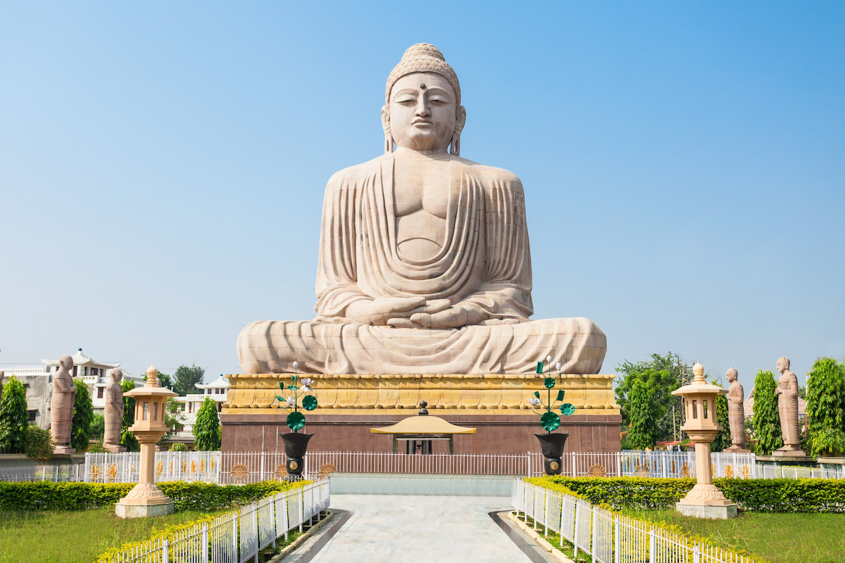 The Great Buddha Statue near the Mahabodhi Temple